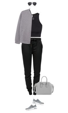 """""""Chilled Sunday !"""" by azzra on Polyvore featuring T By Alexander Wang, H&M, NIKE, MANGO, Givenchy, Michael Kors, The Row, women's clothing, women and female"""
