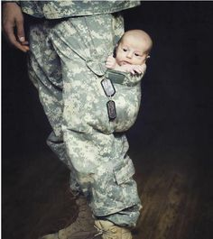 One of the cutest Army baby picture I've ever seen.