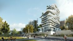 MAD Unveils Organic and Asymmetrical Tower in Paris' Clichy-Batignolles,Courtesy of MAD Architects