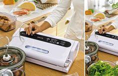 Immagini di campagna per lancio nuove macchine Magic Vac® per il sottovuoto alimentare by Flaem Spa.