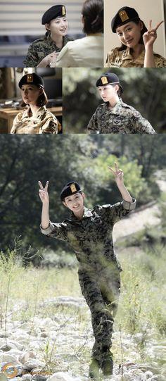Actress Kim Ji Won might be tough, hard-headed female soldier Yoon Myung Joo in KBS2 drama 'Descenda…