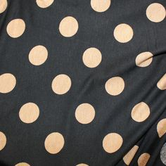 Polka Dot Black & Coffee Viscose Lycra Stretch Jersey Knit Fabric x1m - Clothing | eBay