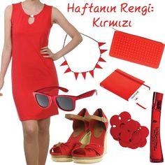 """""""Ne giyeceğine karar veremiyorsan kırmızı giy."""" www.boyner.com.tr #love #fashion #style"""