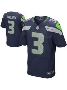 d712381f7 Seattle Seahawks  3 Russell Wilson Blue Jersey