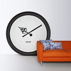 """Clocks are by now probably the most non-functional object,"" said Marcel Wanders, suggesting how easy it is to find out the time from our phones, watches and computer screens.   ""Because [the clock] doesn't have any function anymore, it has a very decorative aspect,"" he told Dezeen."