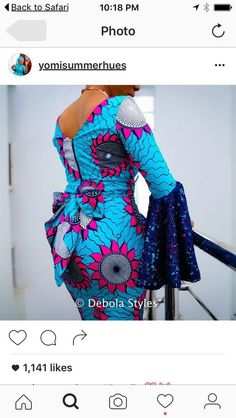 Latest Ankara Dress Styles - Loud In Naija African Fashion Ankara, Latest African Fashion Dresses, African Print Fashion, Africa Fashion, African Prints, African Blouses, African Lace Dresses, Ankara Dress Styles, African Attire