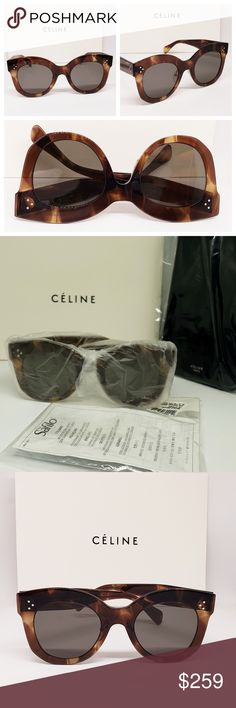 a452fbae768c Celine Sunglasses Thin Brown Havana frame Brand new