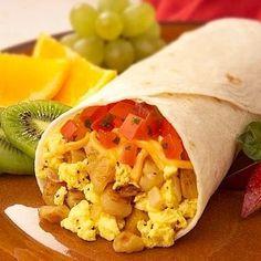 Healthy #breakfast ideas for kids - Vegetarian breakfast burrito via @babycenter #healthybreakfast