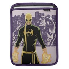 Iron Fist City Silhouette iPad Sleeve