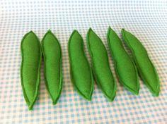 Pretend Play Felt Food Vegetable Runner Beans by mummymadeitme, £4.50