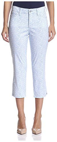NYDJ Womens Svetlana Skinny Capri Denim Ditsy 8 * Read more reviews of the product by visiting the link on the image.