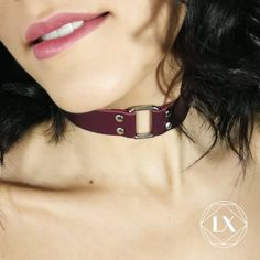 accessories for girls Purple choker Purple tyrian Black Leather Choker, Leather Choker Necklace, Black Choker, Leather Collar, Purple Leather, Cow Leather, Girls Accessories, Leather Accessories, Party Accessories