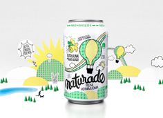 Designed by Taivas, Finland.  Taivas designed Finland's first wellness drink. Portraying a healthy light and funky illustration on all cans.