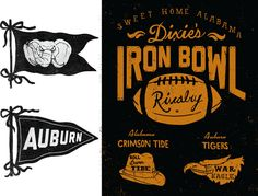 Iron Bowl // Patrick Moore Alabama Crimson Tide Auburn Tigers War Eagle