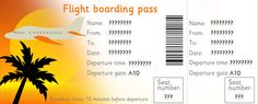 Downloadable Editable Airline Tickets