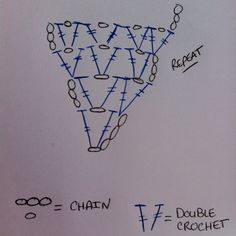 a Passion 4 CROCHET: V-Stitch Triangle Scarf