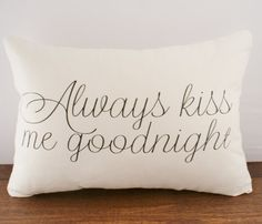 Goodnight Cushion Cover  by Sarah Smile Design