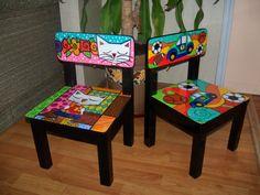 Sillas para niños decorada y personalizada