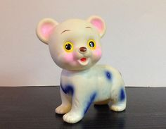 Vintage 1960s Bear Squeak Toy Rubber Squeaky Toy by faroutofsight, $9.00
