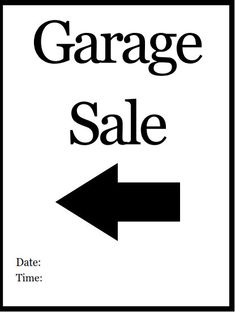 Pricing Tags for Garage Sales ~ FREE Printable to use with