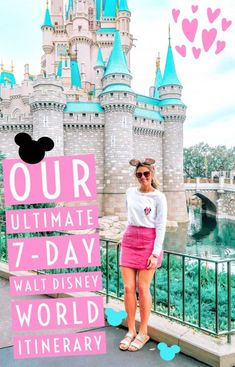 The Ultimate Seven-Day Walt Disney World Itinerary - Walt Disney World - Disney Disney World Outfits, Disney World Resorts, Viaje A Disney World, Disney World Vacation Planning, Disney Planning, Disney Vacations, Disney Worlds, Disney Vacation Outfits, Family Vacations