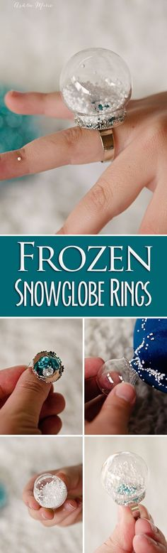 a fun craft at any party, make your own snow globe rings, fill with anything you want