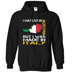 I May Live in Austria But I Was Made in Italy - #cute gift #money gift. LOWEST PRICE => https://www.sunfrog.com/States/I-May-Live-in-Austria-But-I-Was-Made-in-Italy-tmufhkzkys-Black-Hoodie.html?68278