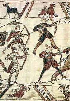 Breton archers in the Bayeux Tapestry, 1066.