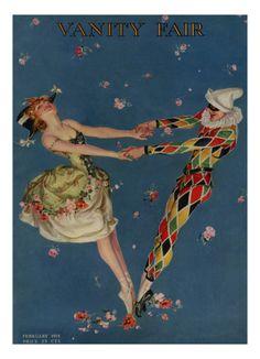 Frank Xavier Leyendecker : Cover art for Vanity Fair, February 1914 Vintage Images, Vintage Posters, Vintage Art, Vintage Vanity, Art Posters, Vanity Fair Magazine, Magazine Art, Magazine Covers, Dance Magazine