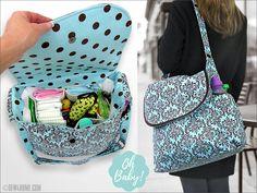 Big, Beautiful Diaper Bag - Sew4Home Buy Backpack, Baby Diaper Bags, Diaper Bag Backpack, Couches, Diaper Bag Patterns, Purse Patterns, Sewing Patterns, Quilting Patterns, Quilt Pattern