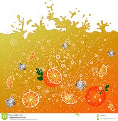 Bebida Anaranjada Carbónica Fondo Publicidad De La Bandera Jugo Cóctel Anaranjado De La Fruta Cítrica Salpica Ilustración del Vector - Imagen: 53659379
