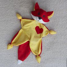 Купить Игрушка комфортер Лисичка Сплюшка - ярко-красный, лиса, игрушка, комфортер, новорожденный, куски