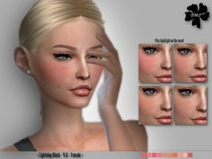 The Sims Resource: Lightning Blush N.11 by IzzieMcFire • Sims 4 Downloads