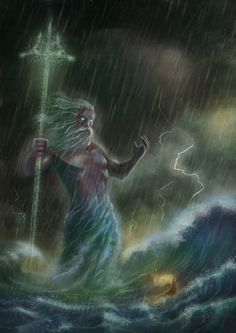 Poseidon (Greek) or Neptune (Roman)