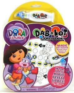 Giddy-up Dora Dab A Lot  Activity Book by Giddy-Up. $4.00. Giddy Up invests in innovative technology to create unique and clever products that are a blast to play with. Color Blast activity books Incorporate learning and exploration into play. Dab-a-lot game books feature magic-reveal games and puzzles. Color Blast activity books Fun for Boys and Girls endless creation possibilities in each kit. Use the special dabber technology of dab a lot markers to reveal hidden games a...