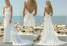 low back beach wedding dresses with detachable train-in Wedding Dresses from Apparel & Accessories on Aliexpress.com $129.00