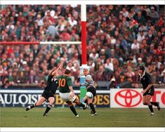 Poster-Joel Stransky kicks the winning drop-goal in the 1995 Rugby World Cup poster sized print mm) made in Australia Usa World Cup, Rugby World Cup, Cycling Quotes, Cycling Art, Women's Cycling Jersey, Cycling Jerseys, World Cup Final, Bicycle Design, Wakeboarding