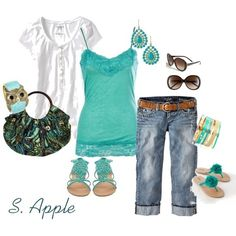 Love the colors and the capris, love this whole summer outfit
