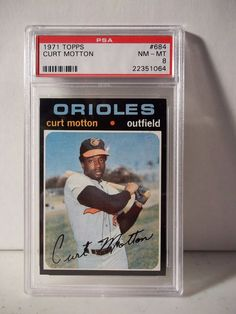 1971 Topps Curt Motton PSA Graded NM-MT 8 Baseball Card #684 MLB Collectible…