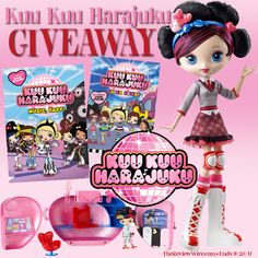 For this giveaway, I have a fun prize pack courtesy of Shout! Factory Kids and Mattel featuring Kuu Kuu Harajuku.
