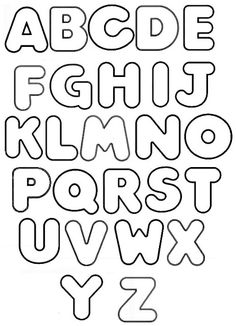 PARAÍSO DO EDUCANDO Alphabet Letter Templates, Printable Letters, Alphabet Stencils, Lettering Tutorial, Bubble Letter Fonts, Bubble Letters Alphabet, Graffiti Words, Hand Lettering Alphabet