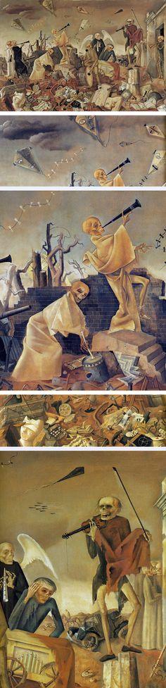 Felix Nussbaum (German, 1904-1944). Death Triumphant (above, and details), 1944