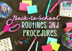 Great blog post with freebies! Upper Elementary Snapshots: Back-to-School Routines & Procedures