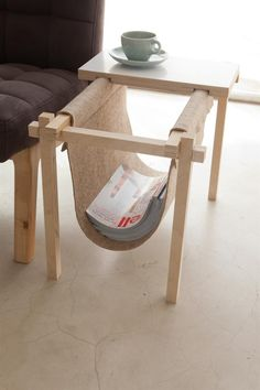 clever contemporary minimalist modern interior design furniture magazine rack