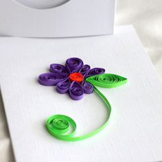 Easy to make quilled card.