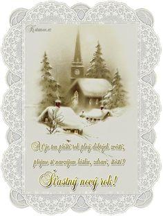 048 novorocni prani - novy rok - PF Christmas And New Year, Merry Christmas, Christmas Ornaments, Tweety, Pergola, Halloween, Wallpaper, Holiday Decor, Xmas