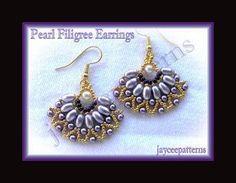 Pearl filigree earring PATTERN