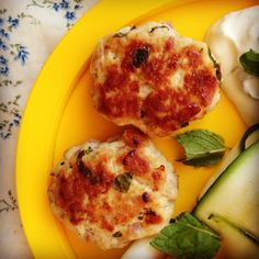 baby led weaning recipe: hot chicken cakes