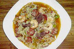 Jambalaya Kreolischer, chilischarfer Reistopf
