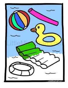 pool party coloring pages - 1000 images about pool party on pinterest summer